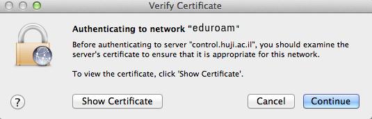 certification for eduroam