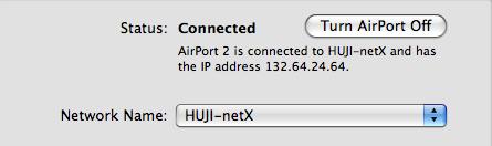 בדיקת התחברות לHUJI-netX