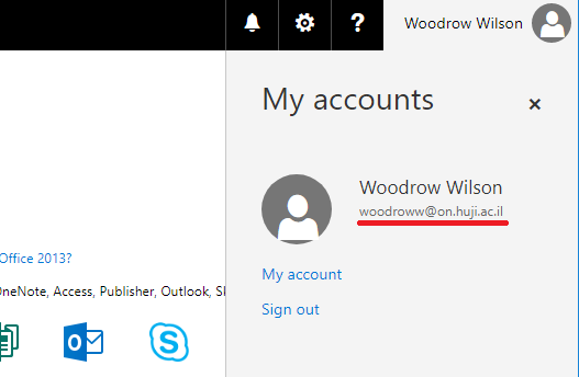 office account name
