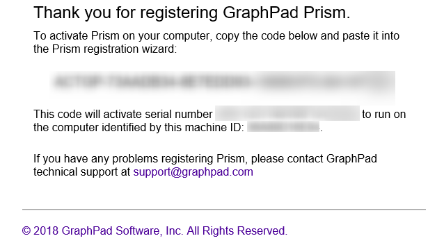 graphpad machine id