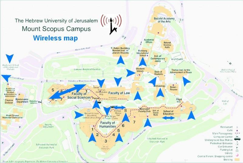 מפת קמפוס הר-הצופים