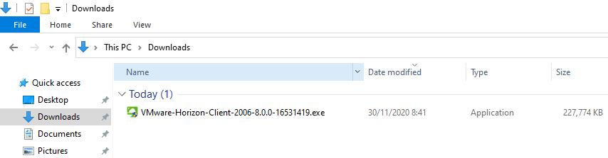 VMware Downloaded File Location